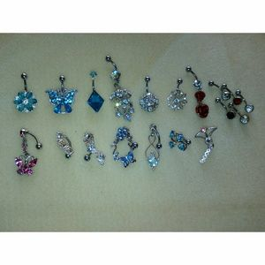 19 piece belly button jewelry set